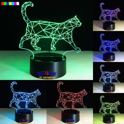 Strut Your Stuff Kitty 7 Color Changing LED Cat Lamp
