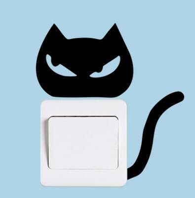 Kitty Light Switch Decals