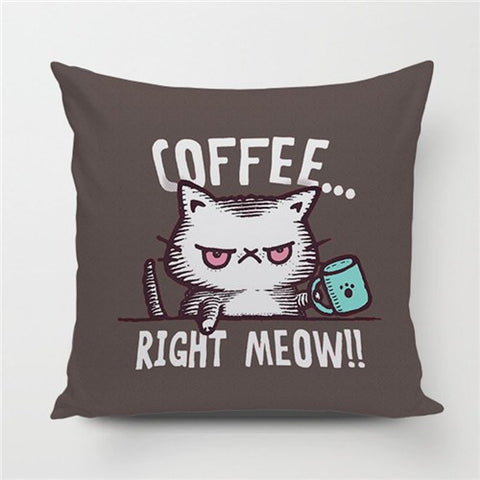 Caffeine Cat Pillow