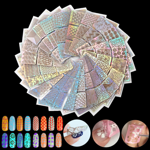 Nail Art Stencils Set 24 Full Sheets