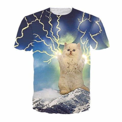 3D Printed Cat Tee Shirts Cat the Sorcerer