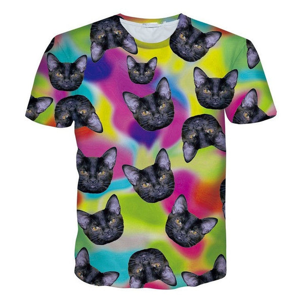 3D Printed Cat Tee Shirts Dream Sequence Kitty