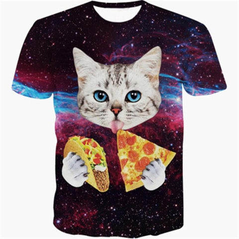 3D Printed Cat Tee Shirts Pizza and Tacos?