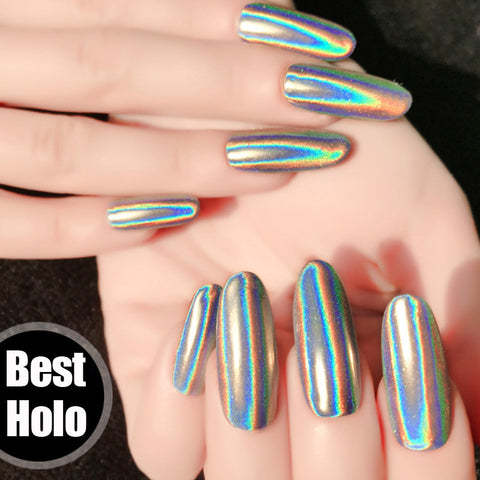 1g/box Holographic Nail Powder Great for Unicorn nails