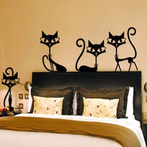 Retro Kitty Silhouette Wall Decals