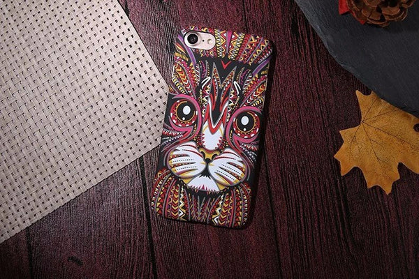 3D Textured Cat Phone Case For Apple iphone 7 5 5S SE 6s 6Plus 7Plus