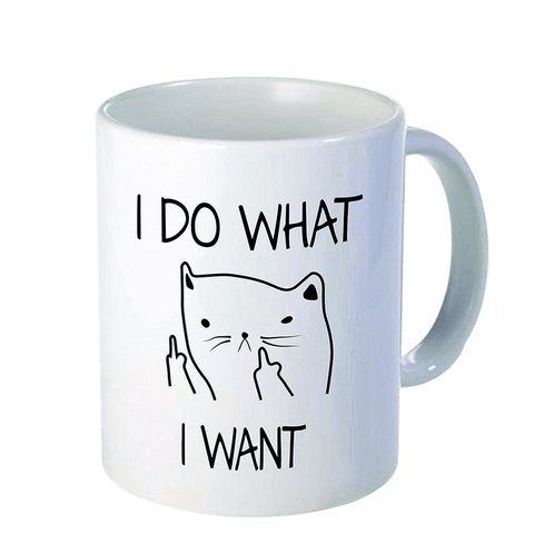 Pocket Cat I DO WHAT I WANT Ceramic Mug