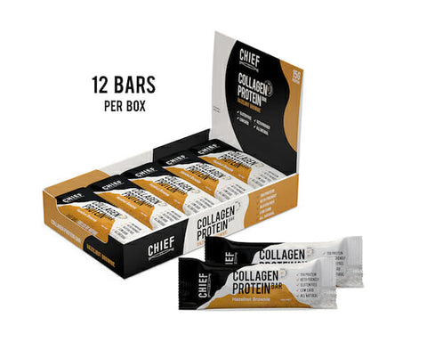 CHIEF BAR - Hazelnut Brownie Collagen Bar (Box of 12)