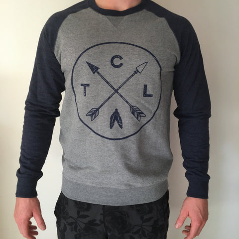 Men's Contrast Crew Steel/Navy w Navy Arrow TCL