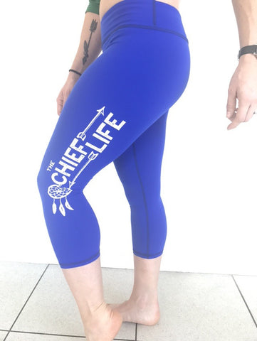 Ladies 3/4 Galaxy Blue Tights