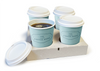 Simply Kraft 4 Cup Carry Tray