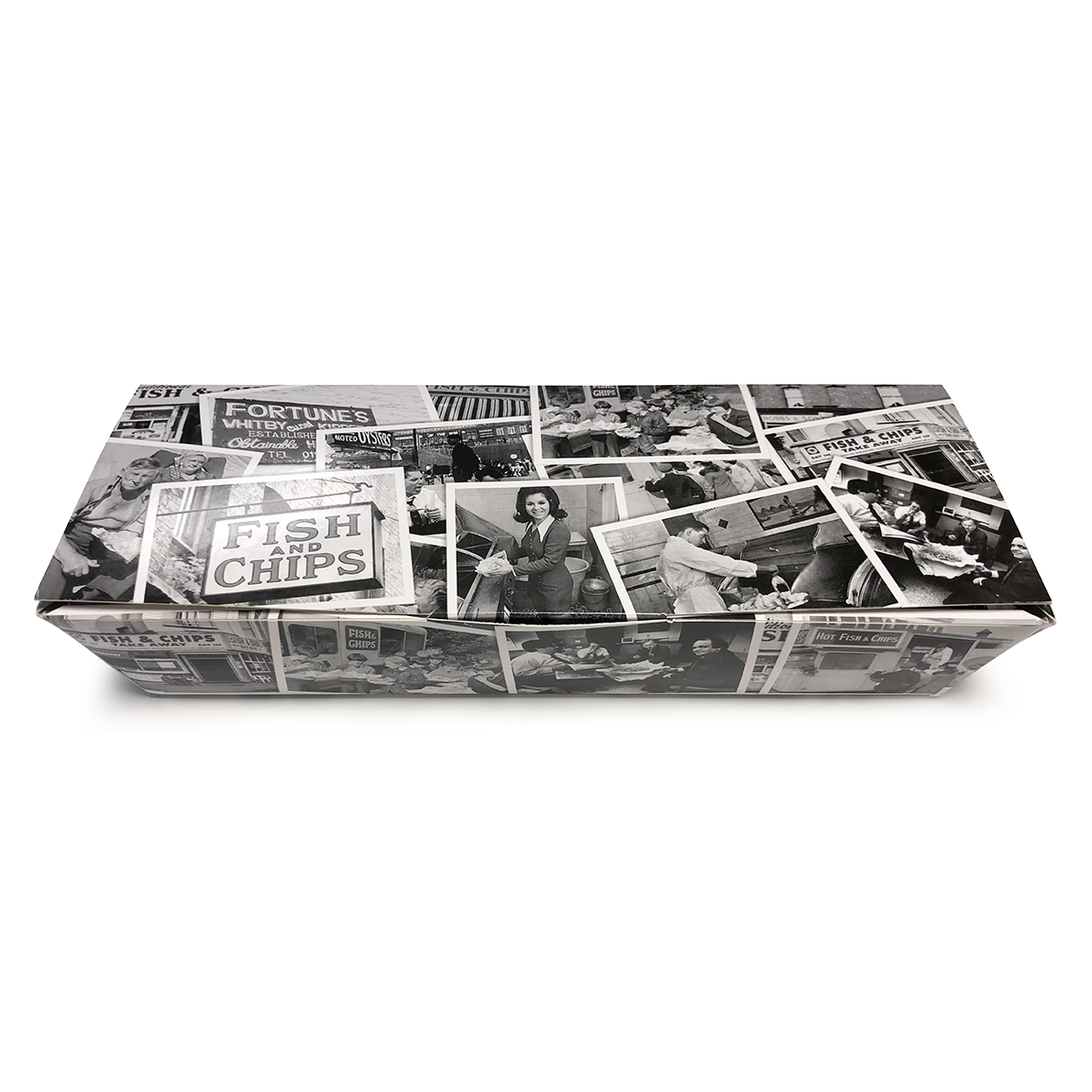 Retro Newsprint Large Lidded Tray