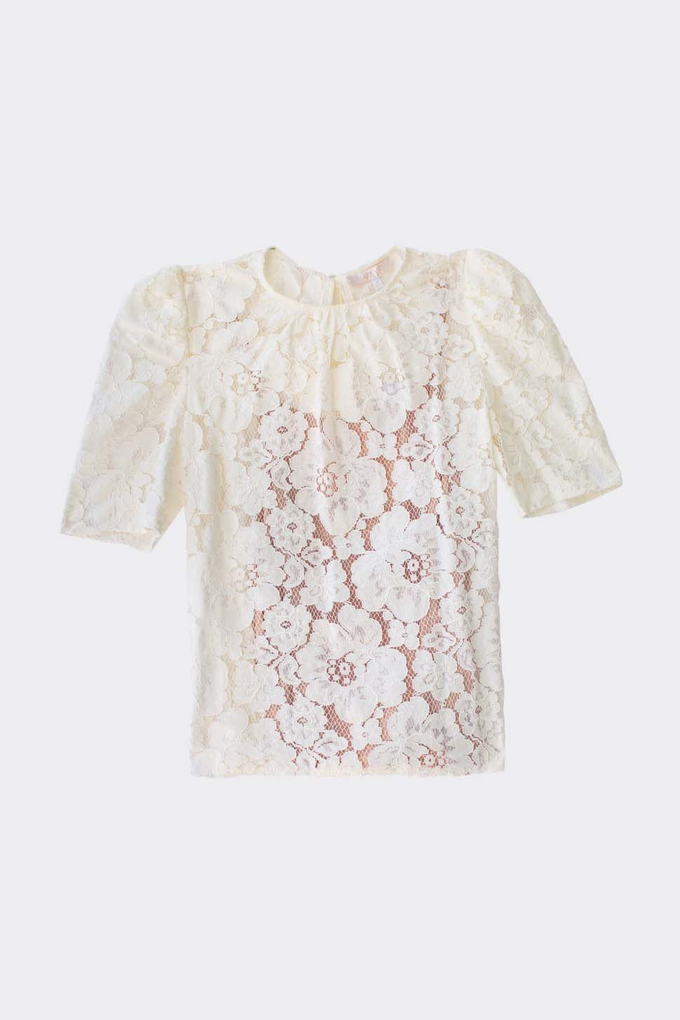 Puff Sleeve Lace Top 1