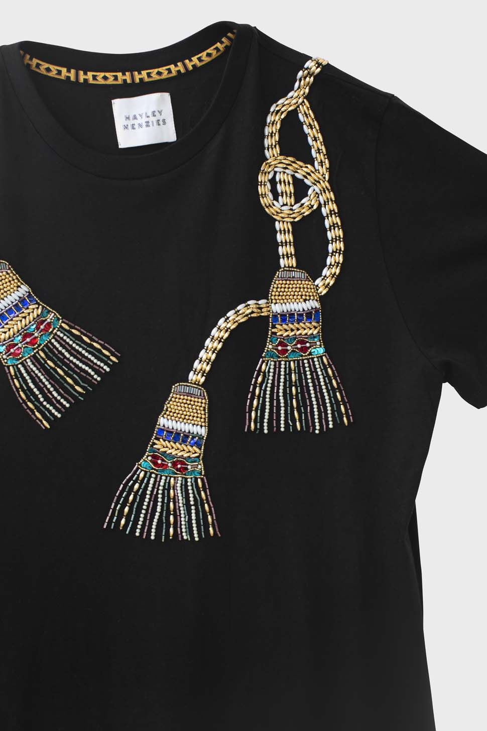 Tassel Beaded T-Shirt 1