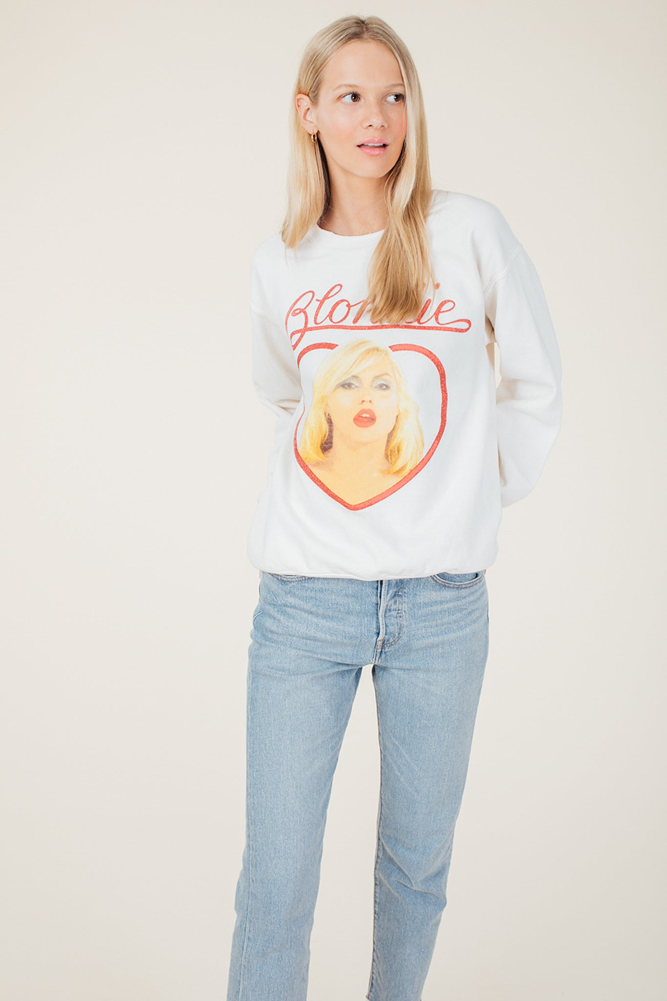 Blondie Glitter Sweatshirt - Wylie Grey 1