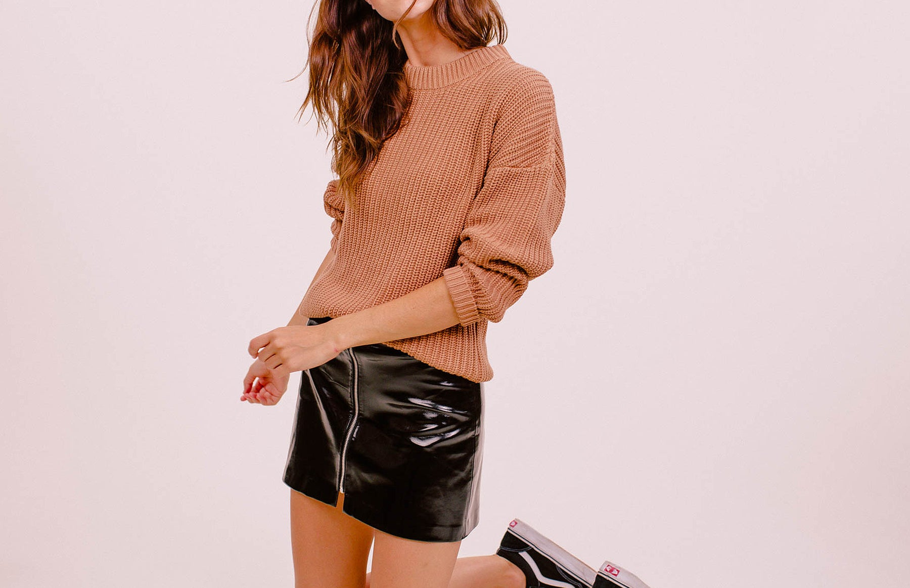 Shaker Knit Boyfriend Sweater