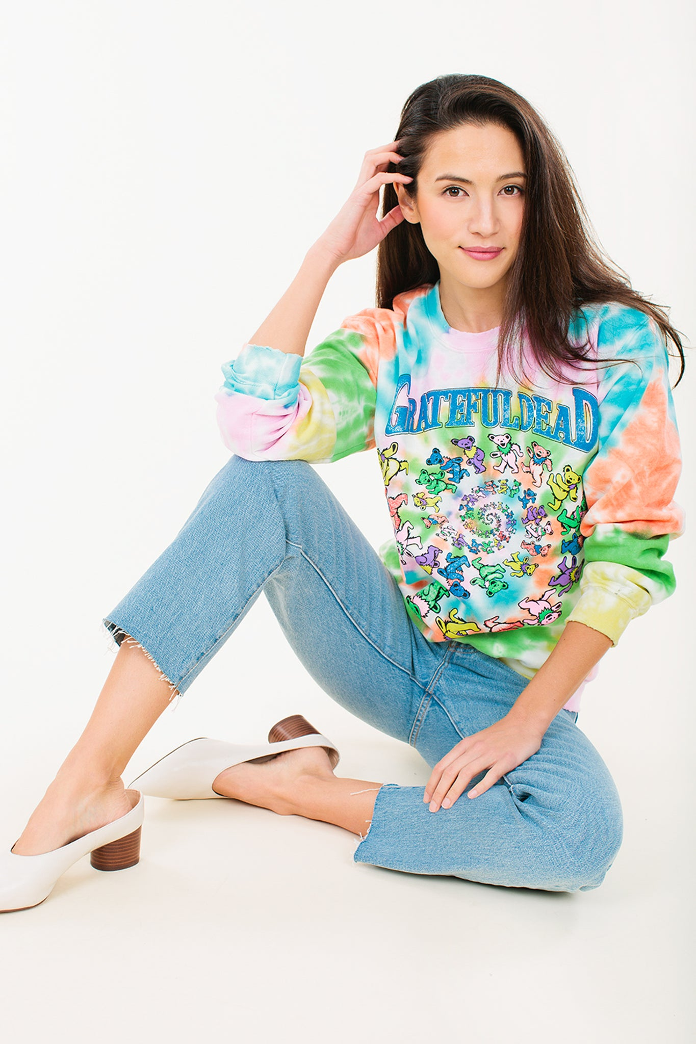 Grateful Dead Tie Dye Sweatshirt - Wylie Grey 4