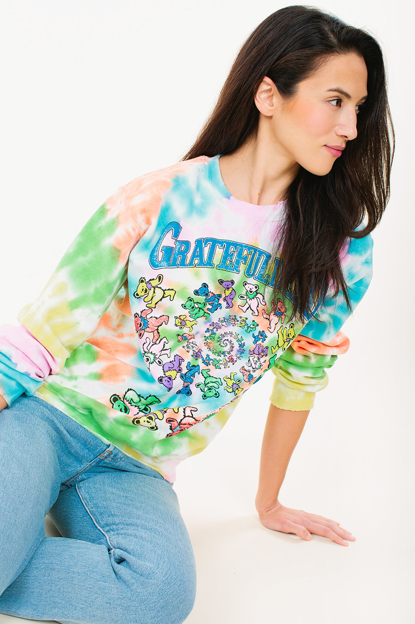 Grateful Dead Tie Dye Sweatshirt - Wylie Grey 1