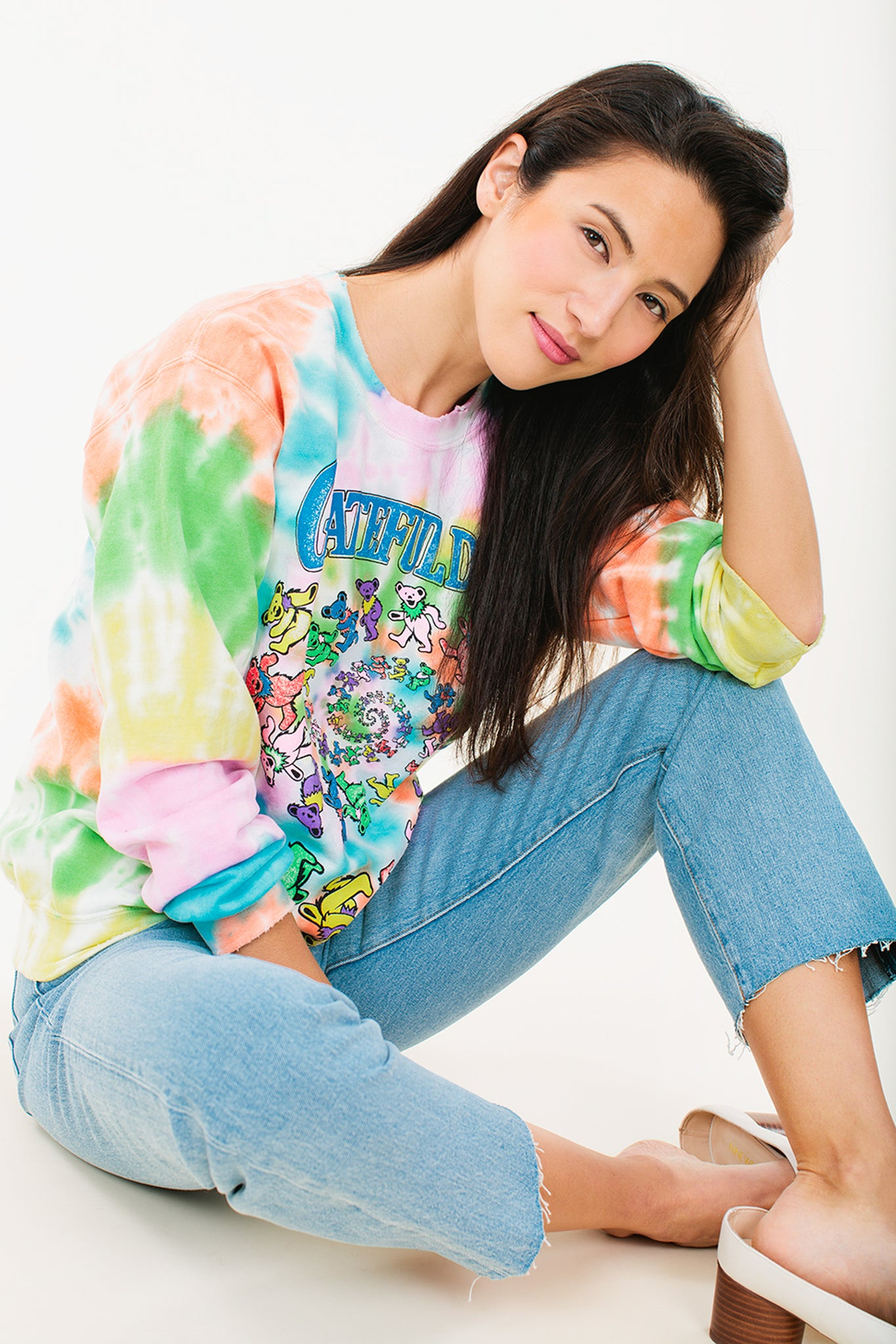 Grateful Dead Tie Dye Sweatshirt - Wylie Grey 3