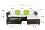 Auro 5-Piece Sectional Set with Ottoman