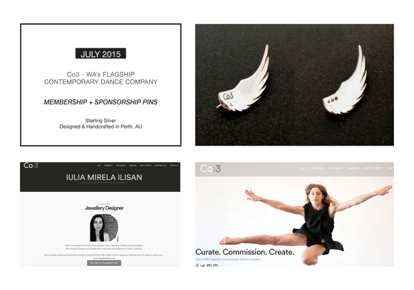 CO3 Contemporary Dance Company WA Membership & Sponsorship Pins