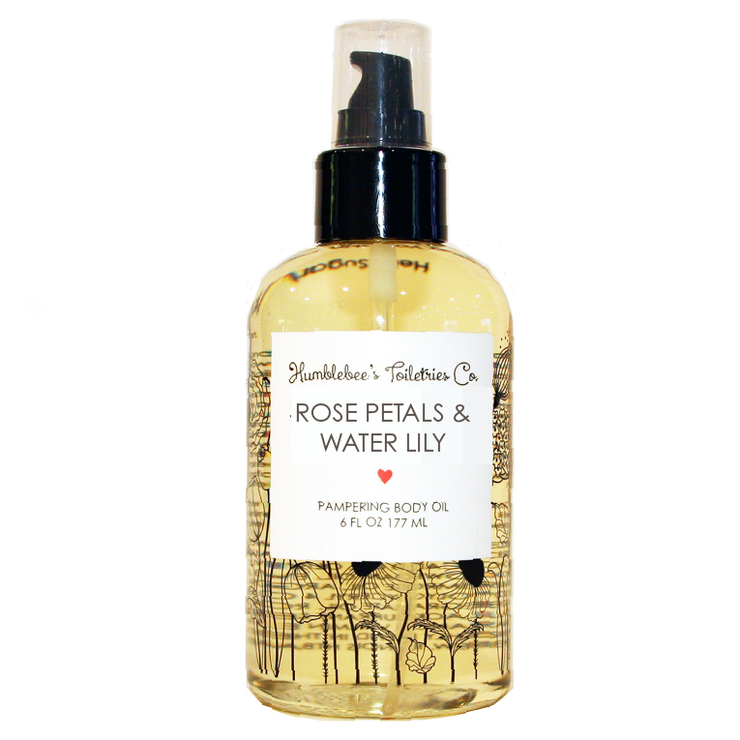 ROSE PETALS & WATER LILY PAMPERING BODY OIL