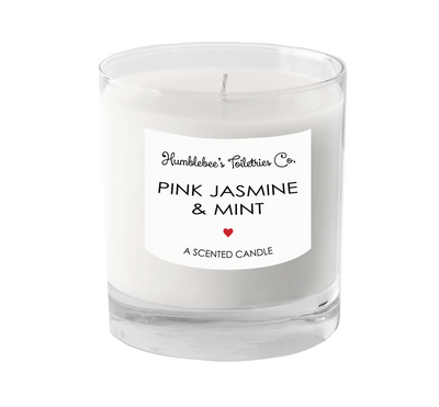 PINK JASMINE & MINT A SCENTED CANDLE