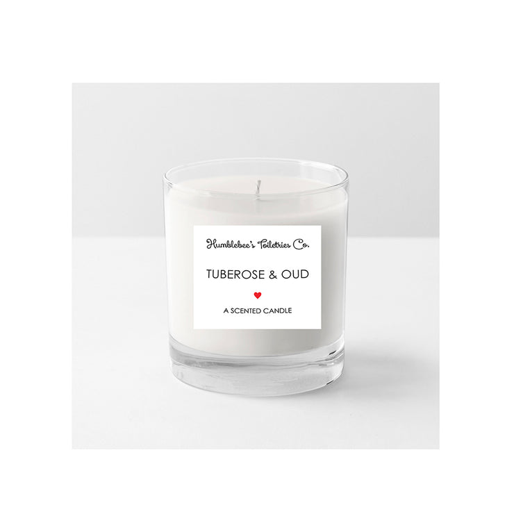 TUBEROSE & OUD - A SCENTED CANDLE