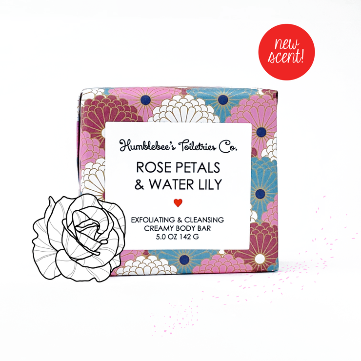 ROSE PETALS & WATER LILY CREAMY BODY BAR