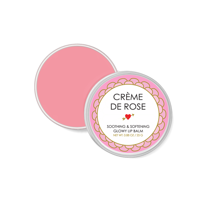 CREME DE ROSE - SOOTHING & SOFTENING GLOWY LIP BALM