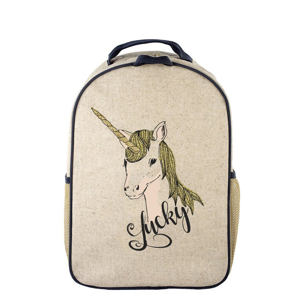 School Backpack - Lucky Unicorn