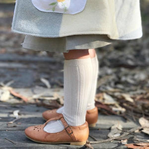 Condor - Knee High Ribbed Socks - White #200