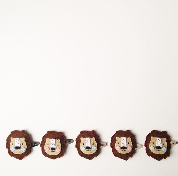 Cherished Lion Hairclip
