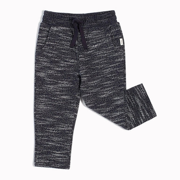 Miles Baby - Navy Reverse Space Dye Joggers