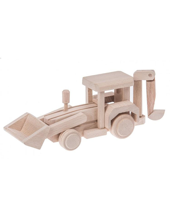Handmade Wooden Backhoe Loader - Theo