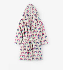 Hatley - Dressing Gown - Pretty Rainbows Fleece Robe