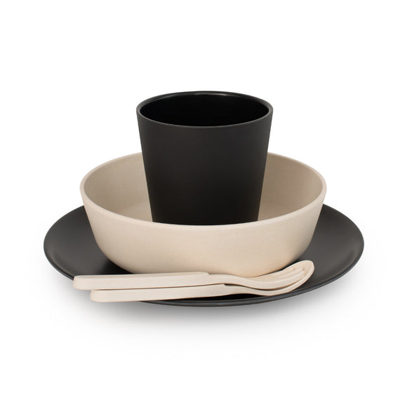 Bobo & Boo - Bamboo Dinner Set - Monochrome