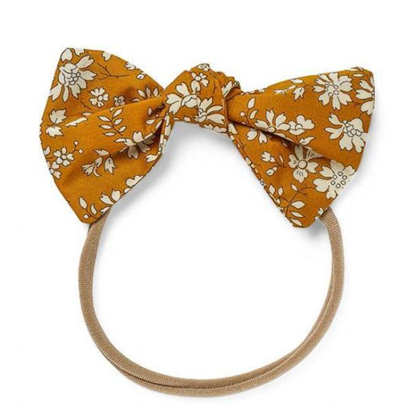 Pretty WIld Kids - Lucille Bow Nylon Headband - Mustard Capel