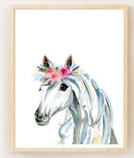 Ink & Ivy - A4 Print - Horse with Flower Crown