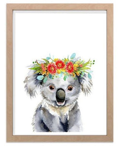 Ink & Ivy - A4 Print - Koala with Flower Crown