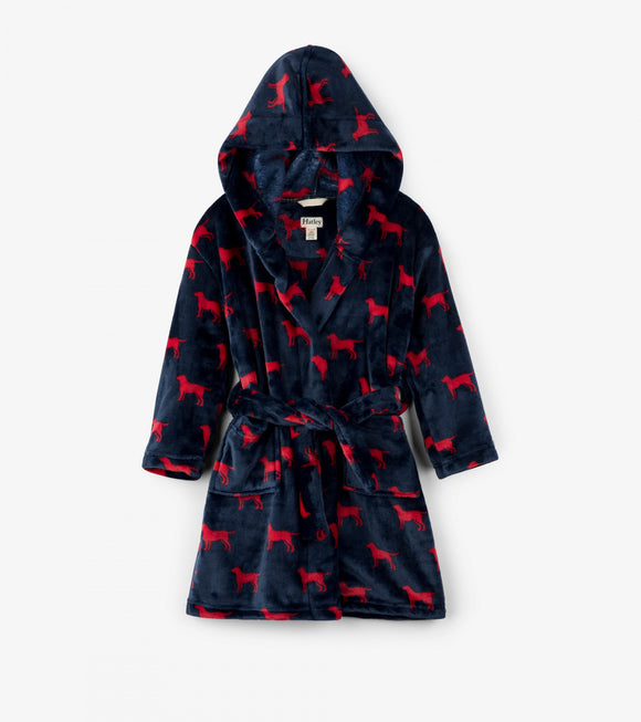 Hatley - Dressing Gown - Red Labs Fleece Robe