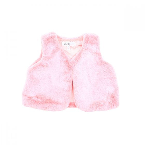 Bebe - Rose Faux Fur Vest
