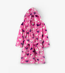 Hatley - Dressing Gown - Multi Hearts Fleece Robe