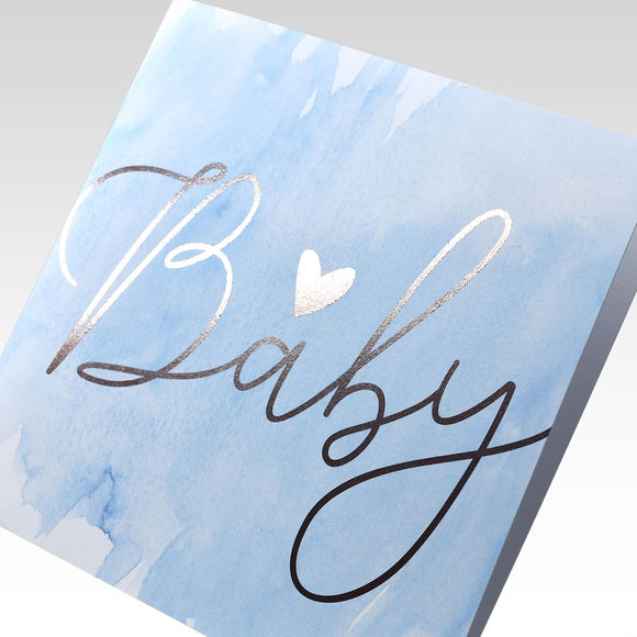 Baby Heart Card - Blue