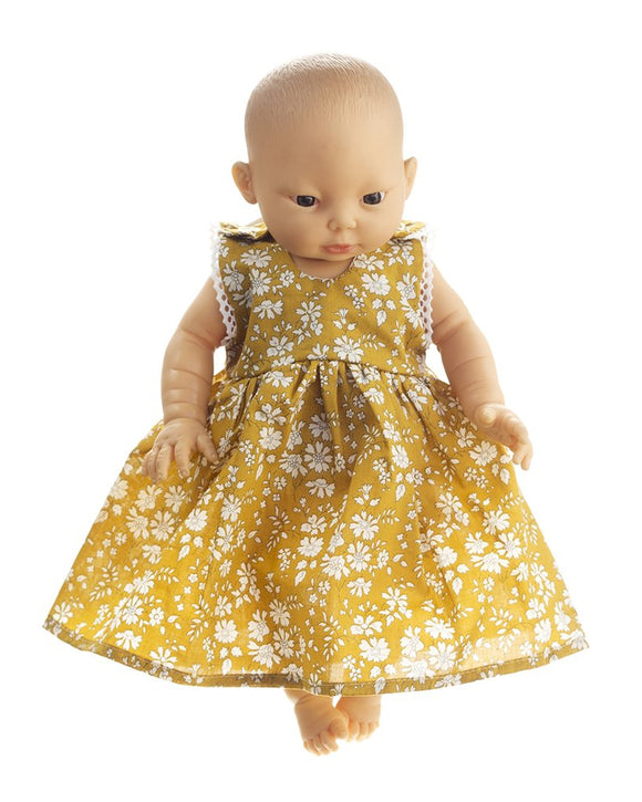 Pretty Wild Kids - Jessie Dolls Dress - Mustard Capel