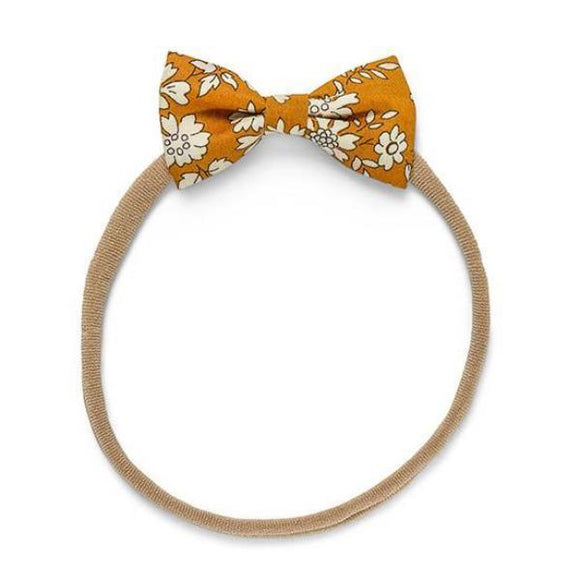 Pretty WIld Kids - Minnie Bow Nylon Headband - Mustard Capel