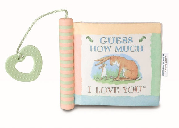 Guess How Much I Love You - Soft Sensory Fabric Book with Sound + Teether