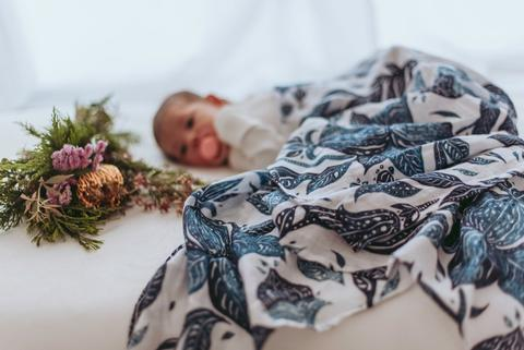 Muslin Swaddle Wrap - Organic Atlanticus Swaddle PRE-ORDER DUE MID FEB