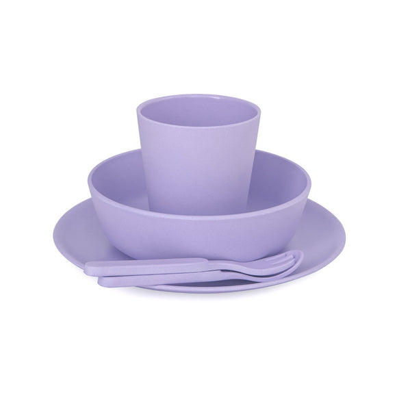 Bobo & Boo - Bamboo Dinner Set - Lilac