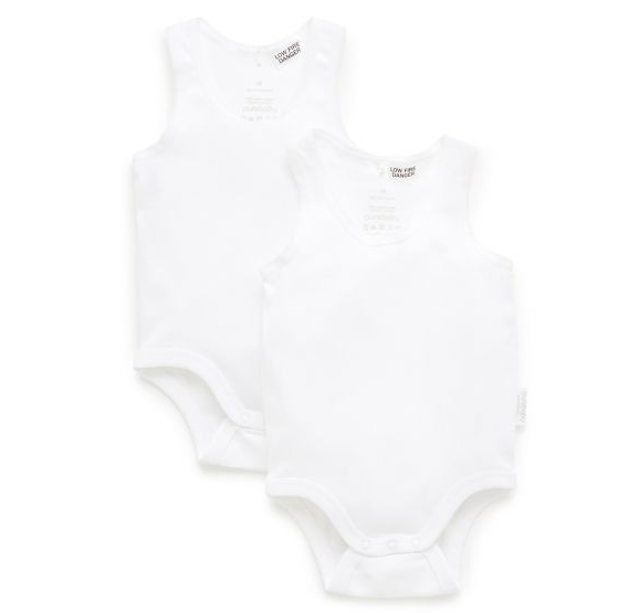 Purebaby - Essentials - 2 Pack Bodysuits